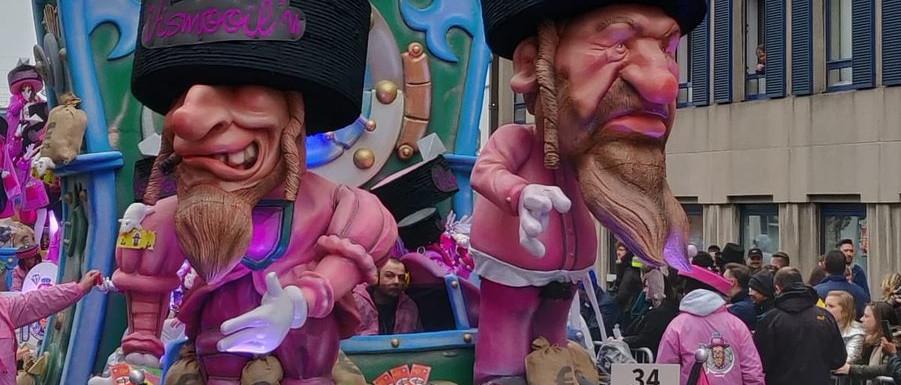 Botrány: Belgiumban antiszemita karikatúrákat vonultattak fel egy karneválon