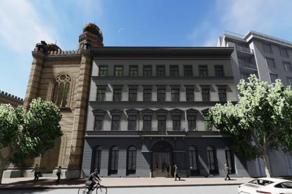 Félig lebontott műemlékekből luxushotel a zsinagóga mellé