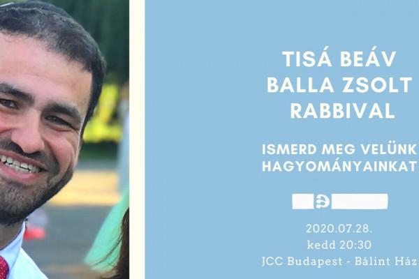 Tisá beÁv Balla Zsolt rabbival – online esemény