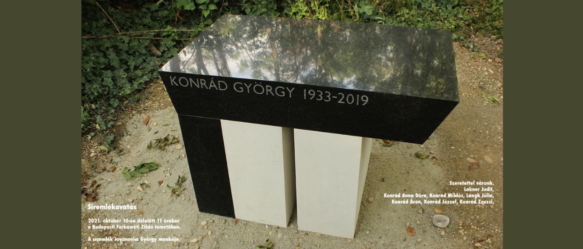 Konrád Györgyre emlékezünk – meghívó megemlékezésre és sírkőavatásra