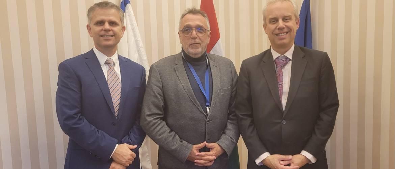 Az USA új emberjogi tisztségviselője a Mazsihisz elnökénél