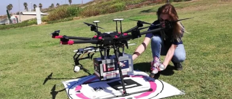 Szusit és fagylaltot is szállítanak izraeli drónok egy teszt során