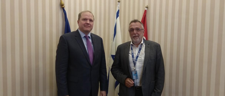 Litvánia nagykövete Heisler András MAZSIHISZ elnöknél