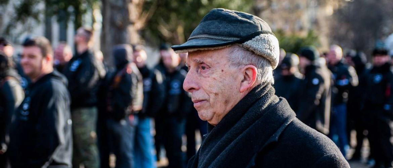 """Látni akartam őket!"": Kardos Péter főrabbi a neonáci demonstráción"