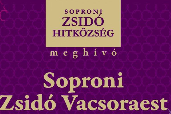 Izraeli vacsoraest és purimi vigadalom Sopronban