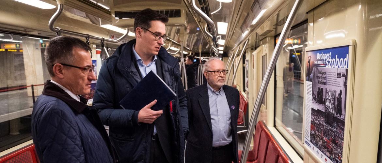 Budapest ostromára emlékeztető kiállítás nyílt metrószerelvényekben