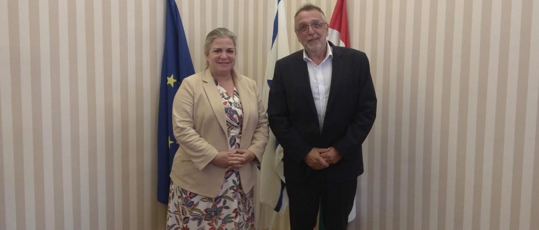 Kanada nagykövet asszonya Heisler András MAZSIHISZ elnöknél