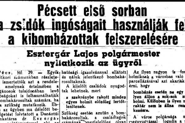 Mit csinált a holokauszt alatt Pécs polgármestere?