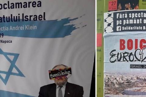 Határon túl: Az Eurovízió bojkottjára biztató plakátok árasztották el Kolozsvár utcáit
