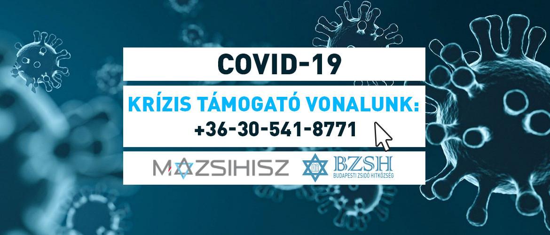 Koronavírus: Újra él a Mazsihisz-BZSH krízisvonala