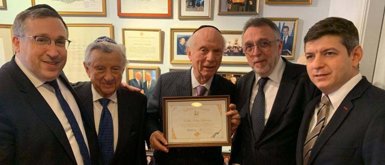 A Mazsihisz delegációja az Egyesült Államokban találkozott Arthur Schneier főrabbival