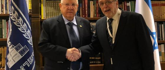Izrael Állam elnökével tárgyalt Heisler András