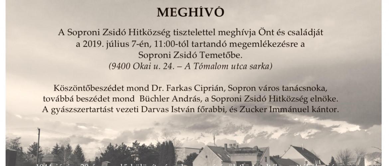 A holokauszt soproni áldozataira emlékezünk