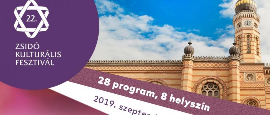 Hamarosan kezdődik a 22. Zsidó Kulturális Fesztivál