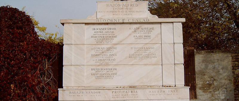 Fölújították Hajós Alfréd sírját a Kozma utcai zsidó temetőben