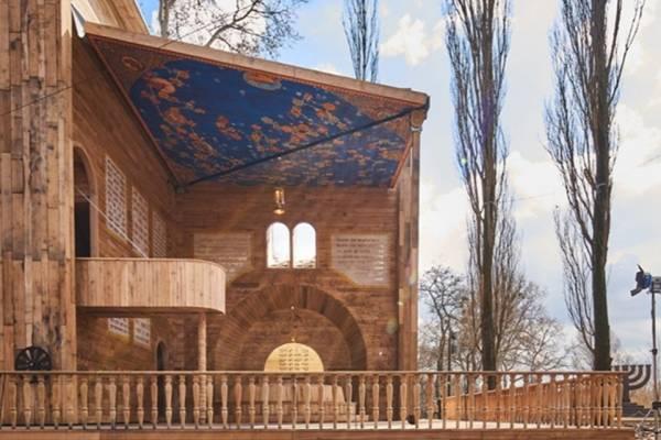 Kinyitható pop-up zsinagóga épült a Babij Jar-i mészárlás helyszínén