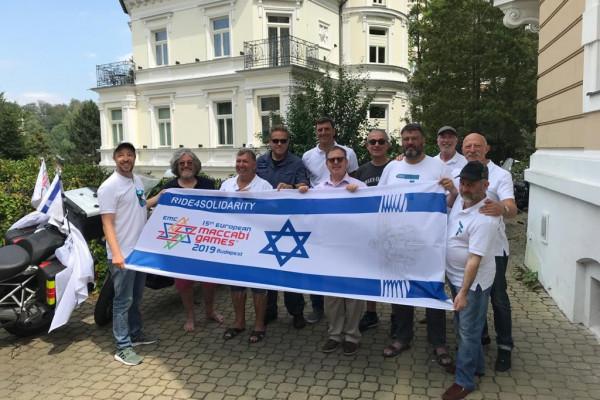 Az ünnepélyes megnyitón már Pesten dübörögnek a Maccabi-motorosok