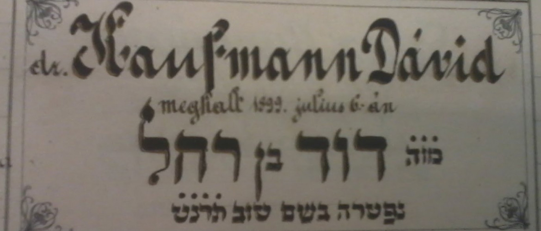 Kaufmann Dávidra, a pesti rabbiképző nagy tanárára emlékezünk