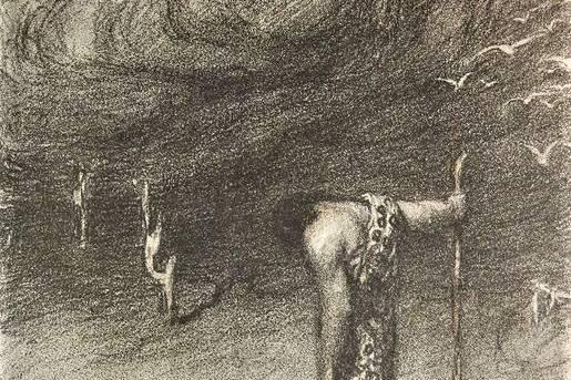 A hét műtárgya Abel Pann műve: Ádám