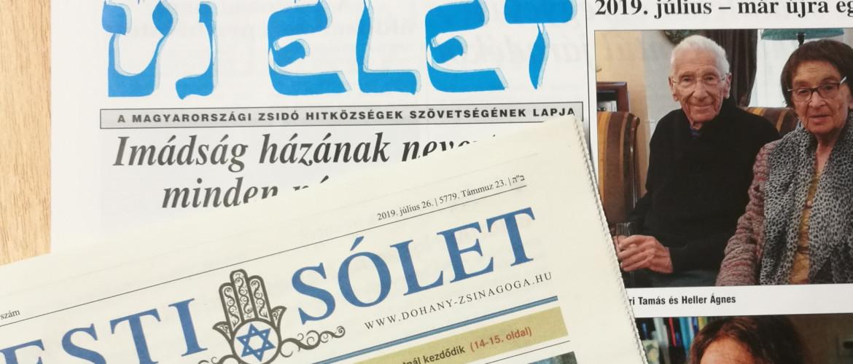 Zsidó sajtó: megjelent az Új Élet és a Pesti Sólet legfrissebb száma