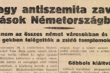 A televízió csodájáról szóló hír is megelőzte a zsidók elleni náci pogromot