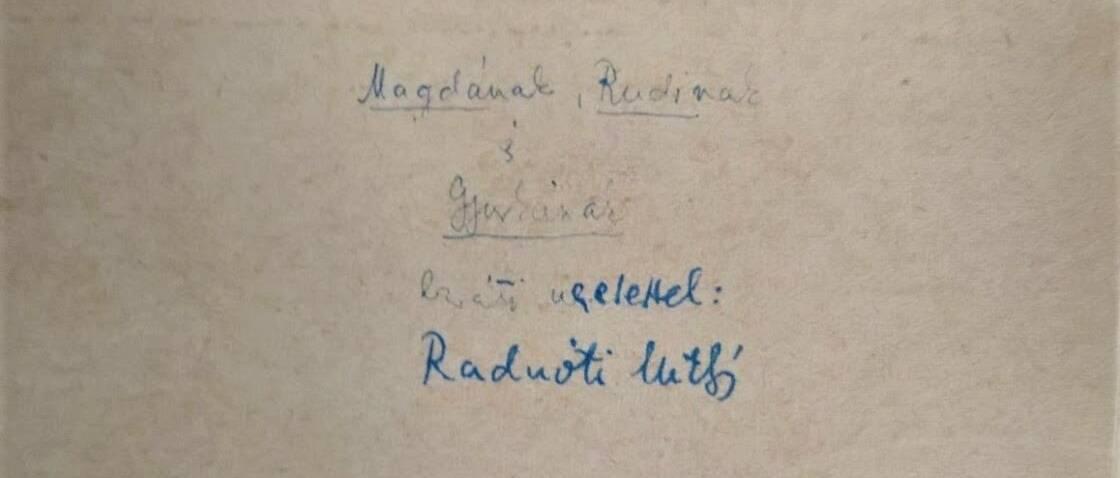 A hét műtárgya: Egy dedikáció Radnóti Miklóstól