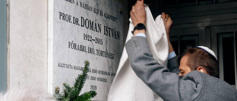 Domán István főrabbi emlékezete ma is tiszteletet ébreszt