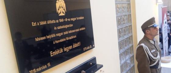 Emléktáblát avattak az 1848-49-es forradalom és szabadságharc zsidó mártírjai tiszteletére