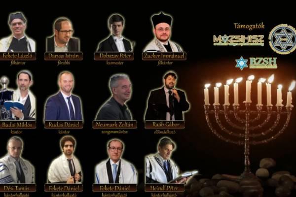 Kántorkoncert Hanuka első napján – ünnepeljünk és énekeljünk együtt