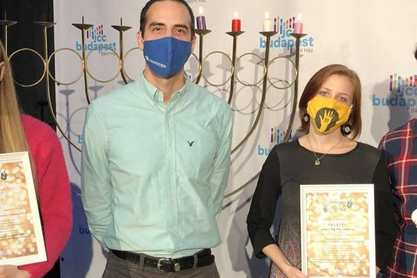 Király Kinga és a Haver Alapítvány önkéntes csapata az idei Hanukatalizátor-díjasok