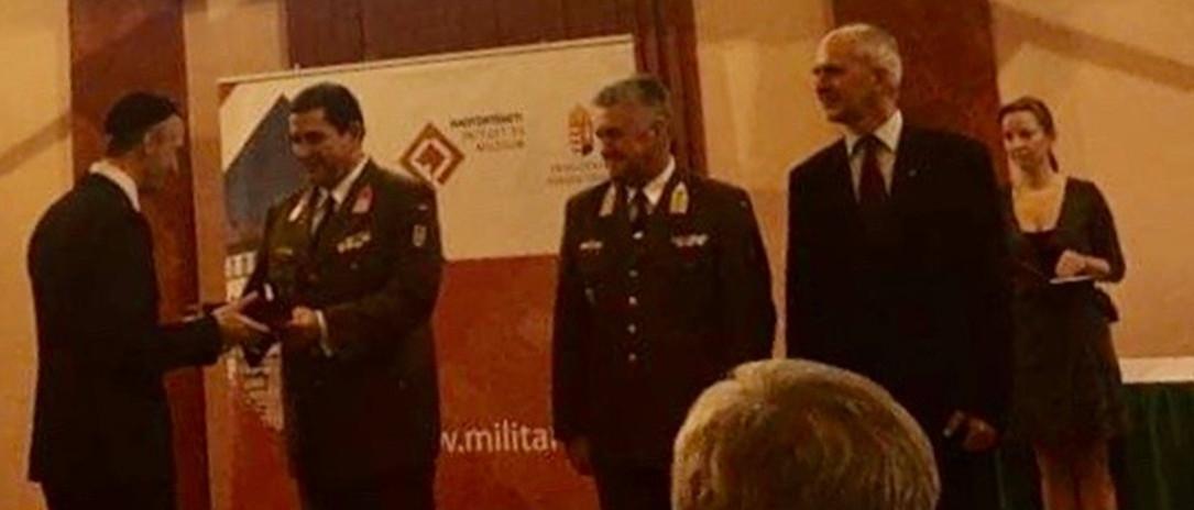 Ismét kitüntették Totha Péter Joelt, a Magyar Honvédség vezető tábori főrabbiját