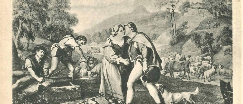 A hét műtárgya: Jákob és Ráhel képeslapon