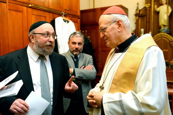 Zsidó-keresztény imaórát tartottak Erdő Péter bíboros és Frölich főrabbi vezetésével