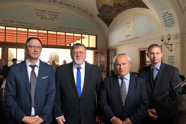 Az elhurcolt zsidókra emlékeztek Győrben