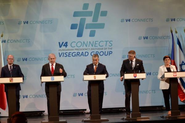 Közép-Európa Izraelbe megy: A Visegrádi Négyek Netanjahunál tartanak csúcstalálkozót
