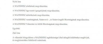 Meghívó a Magyarországi Zsidó Hitközségek Szövetsége tisztújító választási Közgyűlésére