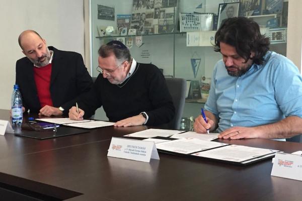 Együttműködési megállapodást kötöttek a zsidó média képviselőivel a Maccabi Európa Játékok szervezői