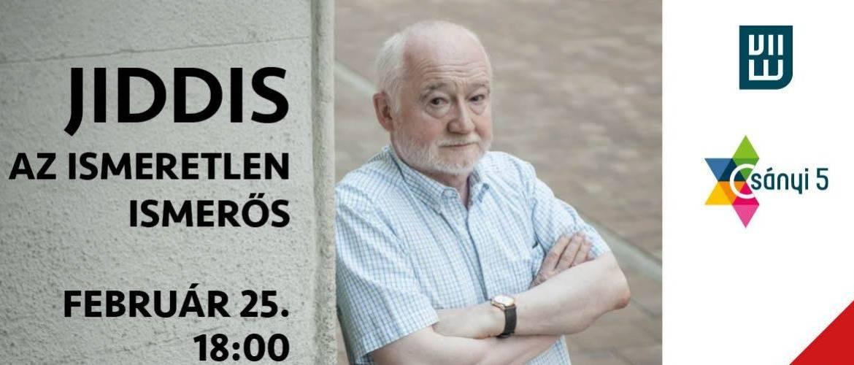 Jiddis, az ismeretlen ismerős – Nádasdy Ádám online előadása